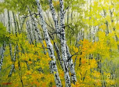 Painting - In The Woods by Boris Garibyan