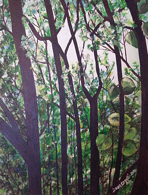 Painting - In The Woods by Donna Cervelli