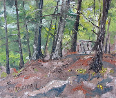 In The Woods No2 Art Print by Francois Fournier