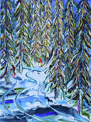 Painting - In The Woods Verbier by Pete Caswell
