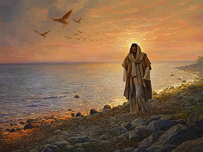 Shore Painting - In The World Not Of The World by Greg Olsen