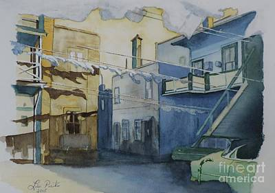 Lowertown Painting - In The Yard Circa 1950 by Lise PICHE