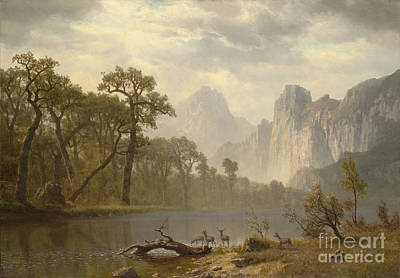 Yosemite Painting - In The Yosemite Valley by MotionAge Designs
