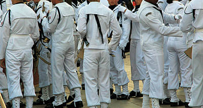 Photograph - In Their Navy Whites by Cora Wandel