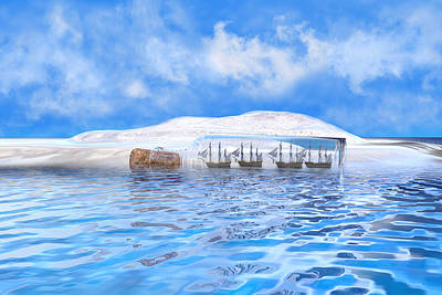 Surrealism Digital Art - In Their Own Minds--Serenity Point by Betsy Knapp