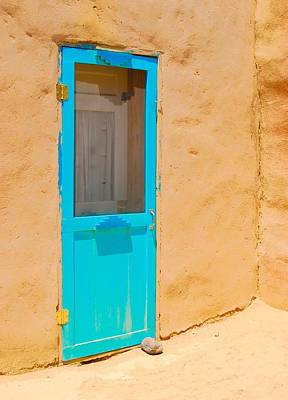 In Through The Blue Door Art Print