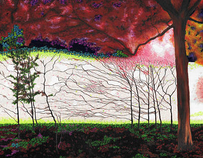 Wall Art - Painting - In To The Light by Hayley Buchanan