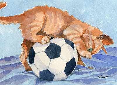 Soccer Ball Painting - In Training by Marsha Elliott
