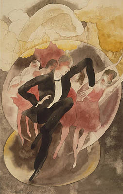 Fine American Art Painting - In Vaudeville by Charles Demuth