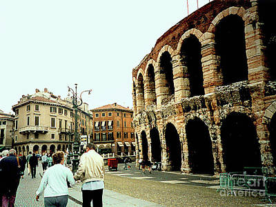 Photograph - In Verona, Italy by Merton Allen