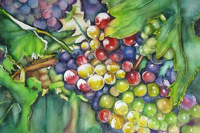 Painting - In Vino Veritas  by June Conte  Pryor