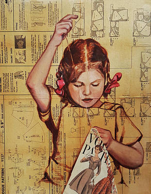 Sewing Mixed Media - In Vogue by Sherry McCourt
