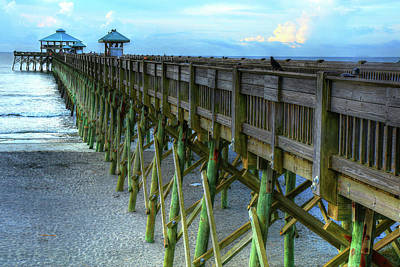 Photograph - In Your Face Folly Beach Pier In Charleston South Carolina by Carol Montoya