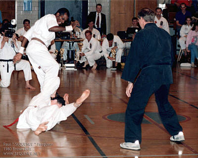 Photograph - In1987 I Was Kicking But A Bit As A Brown Belt I Got A Little Angry by Paul SEQUENCE Ferguson             sequence dot net