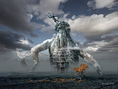 Artistic Digital Art - Inadvertent Metamorphosis Or King Of My Castle by George Grie