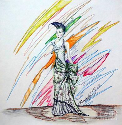 Fabric Mixed Media - Inamorata by Georgia's Art Brush
