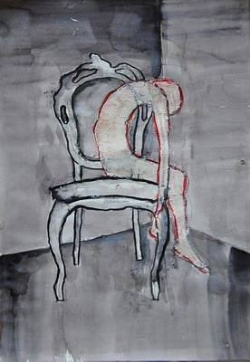 Empty Chairs Mixed Media - Inanitas by Maya Brittain