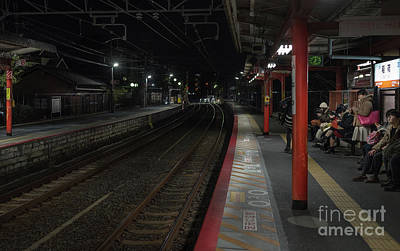 Inari Station, Kyoto Japan Art Print