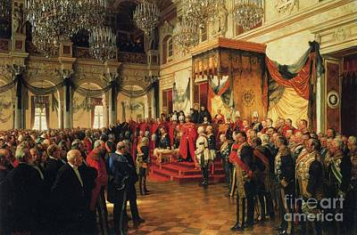 Painting - Inauguration by Anton von Werner