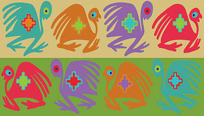 Digital Art - Inca Birds by Vagabond Folk Art - Virginia Vivier