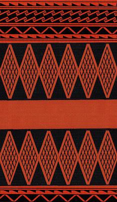 Digital Art - Inca Folk Art Red Diamonds by Vagabond Folk Art - Virginia Vivier