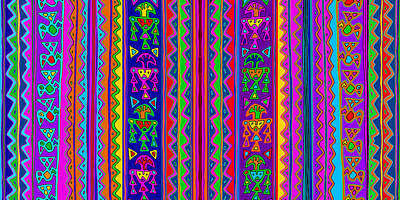 Digital Art - Inca Folk Art  by Vagabond Folk Art - Virginia Vivier