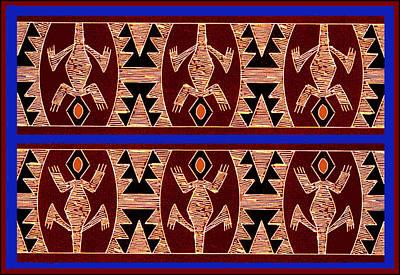 Digital Art - Inca Gecko Spirits by Vagabond Folk Art - Virginia Vivier