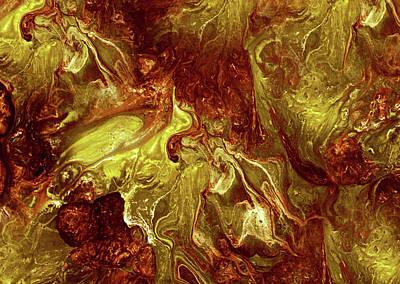 Painting - Inca Gold Abstract Grunge by Georgiana Romanovna