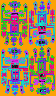 Digital Art - Inca Queens by Vagabond Folk Art - Virginia Vivier