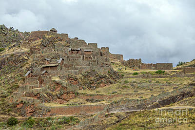 Photograph - Inca Ruins In Pisac by Patricia Hofmeester