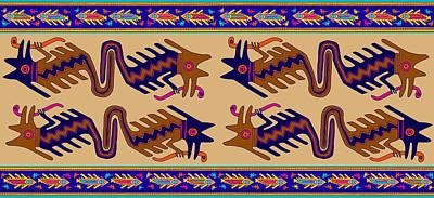 Digital Art - Inca Serprent Spirits by Vagabond Folk Art - Virginia Vivier
