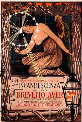 Gaslight Painting - Incandescent Gaslight Poster by Giovanni Mataloni