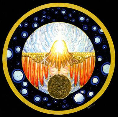 Incarnation   Mandala Series Art Print by Pam Ellis