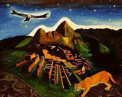 Gustavo Oliveira Painting - Inca's Trilogy by Gustavo Oliveira
