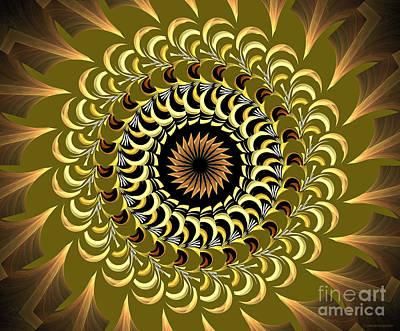 Kaleidoscope Digital Art - Incendia Kaleidoscope by Deborah Benoit
