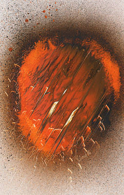 Painting - Incendiary Burn Through by Jason Girard