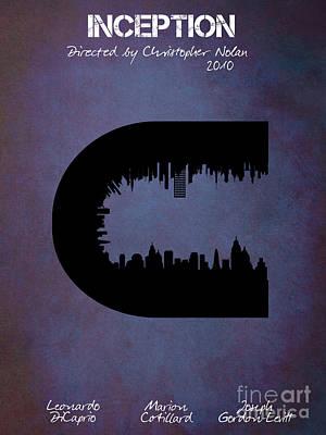 Christopher Nolan Digital Art - Inception By Christopher Nolan Film Poster by Justyna JBJart