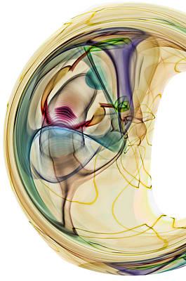 Embryo Digital Art - Inception...two by Tom Druin