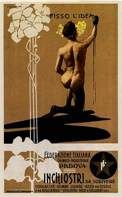 Mixed Media - Inchiostri Da Scrivere - Padova, Italy - Vintage Advertising Poster by Studio Grafiikka