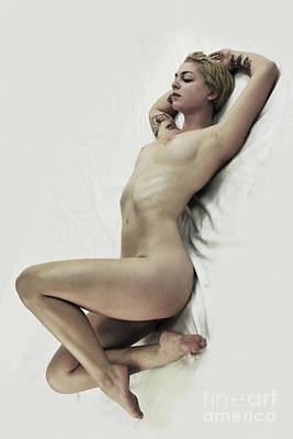 Inclined Nude Art Print