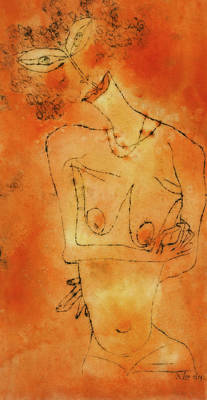 Painting - Inclining Her Head by Paul Klee