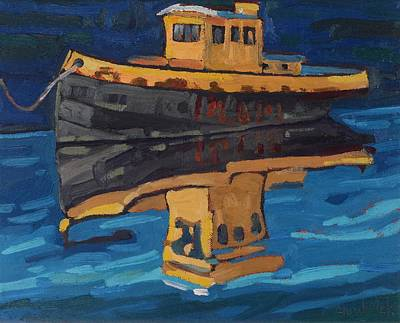Painting - Incognito Tug by Phil Chadwick