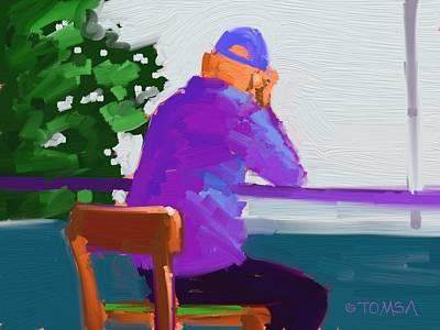 Digital Art - Incoming Call by Bill Tomsa
