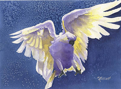 Cockatoo Painting - Incoming by Marsha Elliott