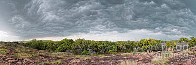 Photograph - Incoming Ominous Supercell Over Inks Lake State Park - Burnet County Texas Hill Country by Silvio Ligutti