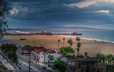 Photograph - Incoming - Rain At The Pier by Gene Parks