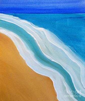 Caribbean Abstract Painting - Incoming by Sharon Eng