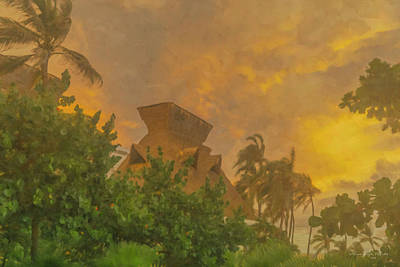 Painting - Incoming Storm On Playa Diamante Acapulco by Bill McEntee