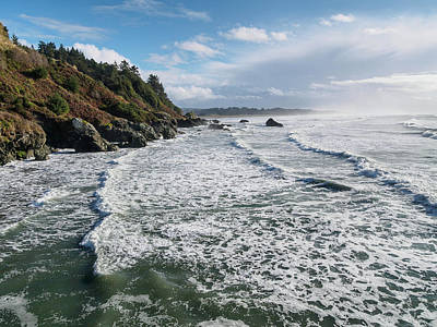 Photograph - Incoming Surf by Greg Nyquist