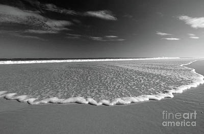 Photograph - Incoming Tide Bw by Mary Haber
